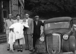 Pierwszy chrzest w naszym zakładzie - czerwiec 1955